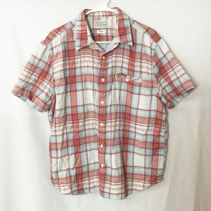 Lucky Brand Button-Down Shirt Red White & Blue XL